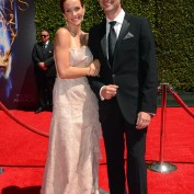Annie Wersching and Stephen Full at 2014 Creative Arts Emmy Awards - 1