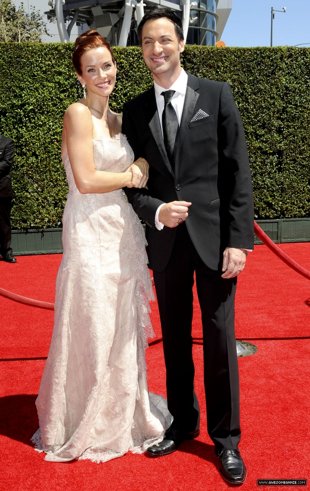 Annie Wersching and Stephen Full at 2014 Creative Arts Emmy Awards - 4