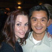 Annie Wersching with a fan at 24 Season 7 Finale Screening