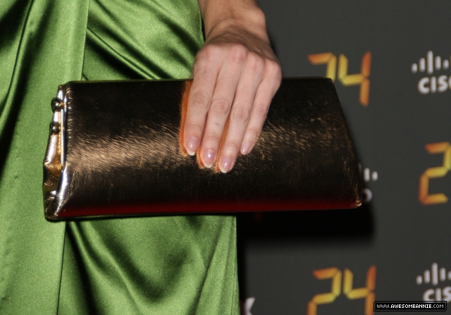 Annie Wersching golden purse