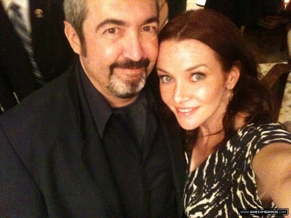 Annie Wersching and Jon Cassar 24 Series Finale party