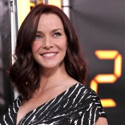 Annie Wersching smiling at 24 Series Finale Party
