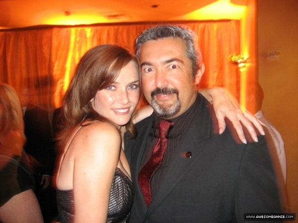Annie Wersching and Jon Cassar at 59th Annual Primetime Emmy Awards party