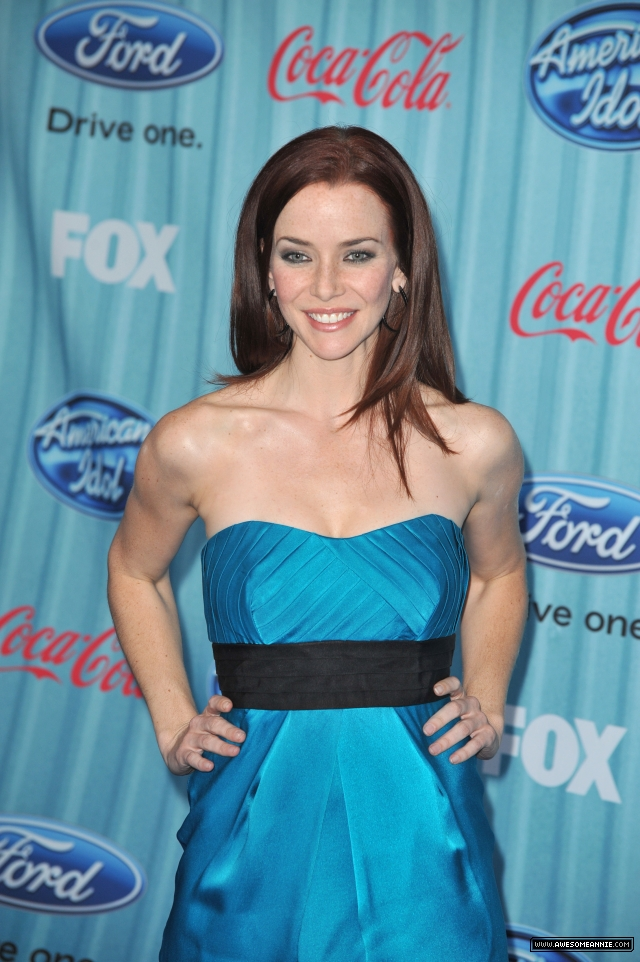 Annie Wersching at American Idol Top 13 Party 2009