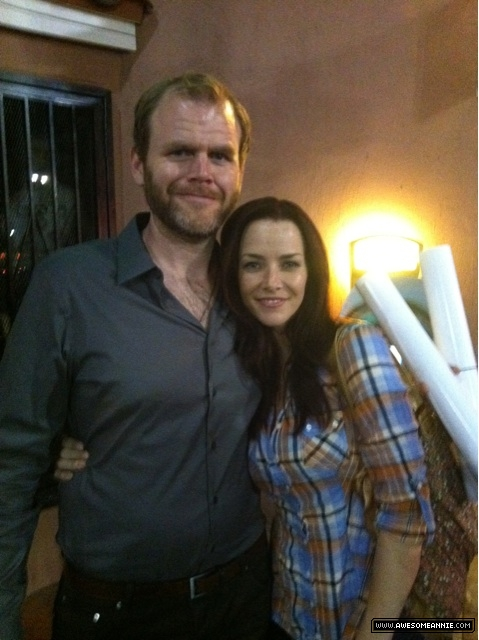 Annie Wersching and Michael Maize at premiere of The Casserole Club
