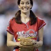Annie Wersching at Taco Bell All-Star Legends & Celebrity Softball Game 2009