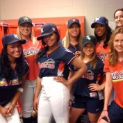 Annie Wersching females group shot Celebrity Softball Game 2009