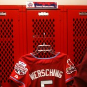 Annie Wersching's jersey in Celebrity Softball Game 2009