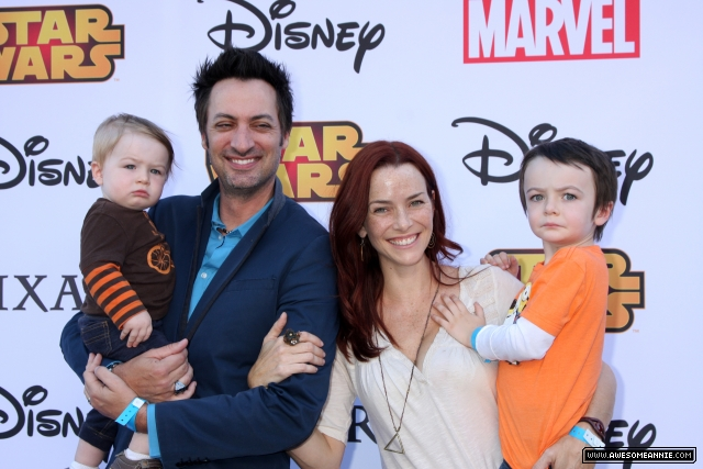 Annie Wersching and family attend Disney's VIP Halloween event