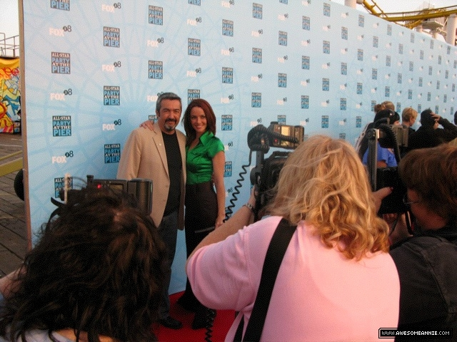 Annie Wersching and Jon Cassar at FOX All-Star Party