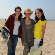 Annie Wersching, Eliza Dushku, and Joely Fisher at Fox Earth Day Beach Cleanup
