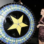 Annie Wersching spins the wheel at 2008 FOX Fall Eco-Casino Party
