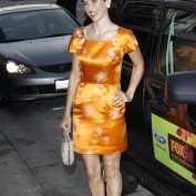 Annie Wersching Arrives at FOX Fall 2009 Eco-Casino Party
