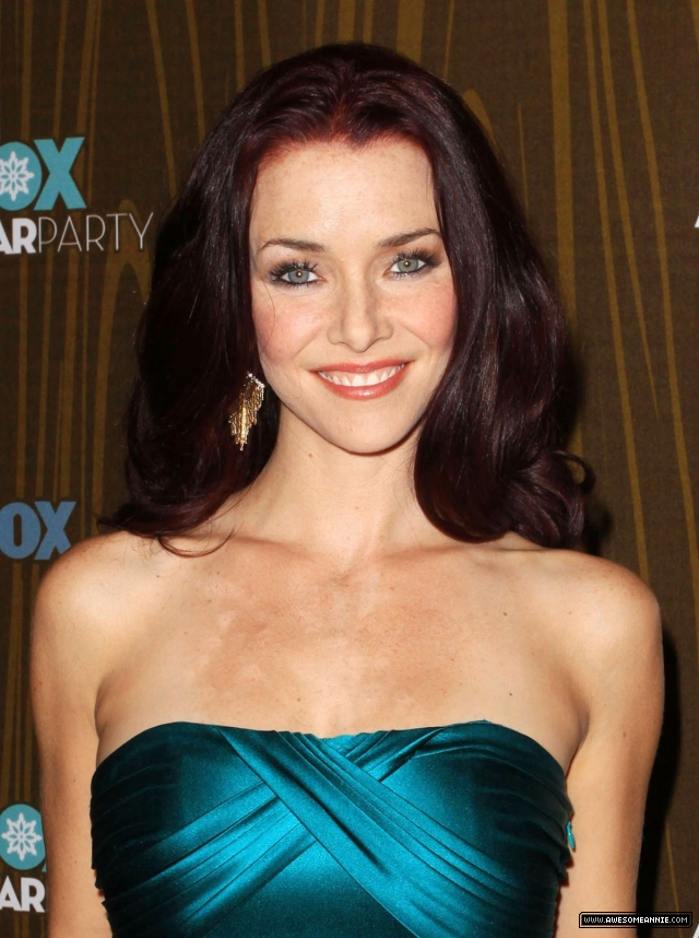 Annie Wersching smiles at FOX Winter All-Star Party 2010