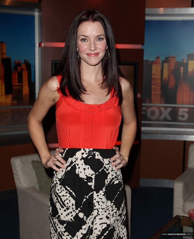 Annie Wersching visits Good Day NY