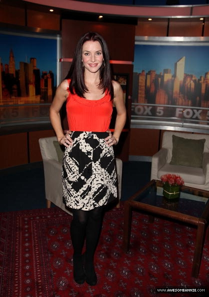 Annie Wersching visits Good Day NY 7