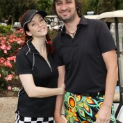 Annie Wersching and Stephen Full at 2011 Hack n' Smack Celebrity Golf Tournament