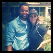 Annie Wersching with Cuba Gooding Jr. at Hack n' Smack 2012