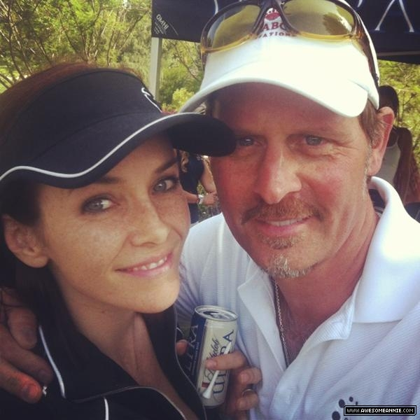 Annie Wersching with Jeffrey Nordling at Hack n Smack 2012