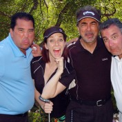 Annie Wersching with Joe Mantegna at Hack n' Smack 2012