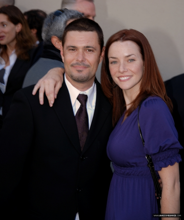 Annie Wersching and Carlos Bernard at Walk of Fame