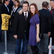 Annie Wersching and Carlos Bernard attend Kiefer's Walk of Fame Ceremony