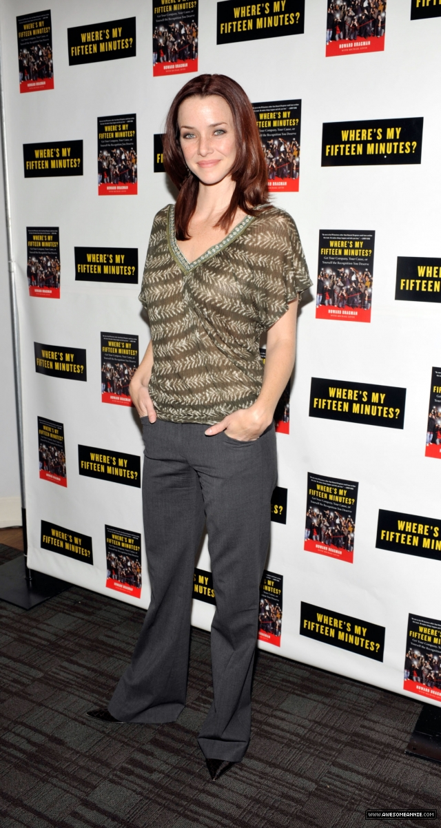 Annie Wersching attends Howard Bragman's Book Launch 4