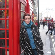 Annie Wersching on the streets of London