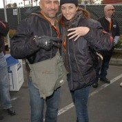 Annie Wersching and Carlo Rota pose at 24th Annual Love Ride