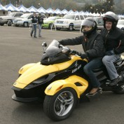 Annie Wersching rides a Can-Am Spyder