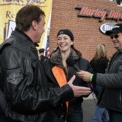 Annie Wersching with Mark Kriski, and Sam Rubin at 24th Annual Love Ride