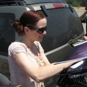 Annie Wersching signing autographs for fans at Nuts for Mutts Dog Show 2009