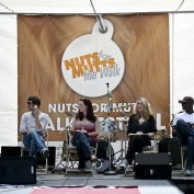 Annie Wersching, Joel David Moore, Peter Mensah at Nuts for Mutts