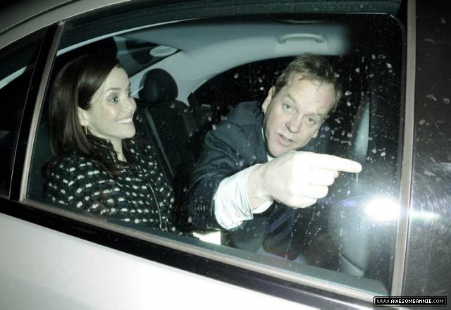 Annie Wersching and Kiefer Sutherland at 2009 Radio Times Covers Party - 01