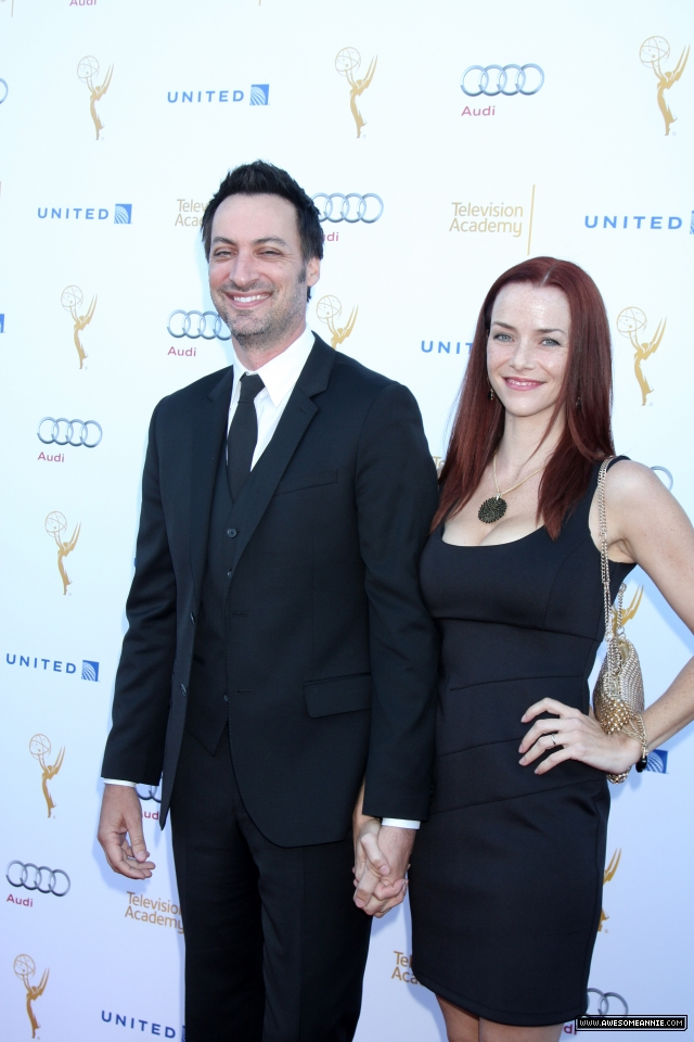 Annie Wersching and Stephen Full at Television Academy Performers Nominee Reception for The 66th Emmy Awards - 1