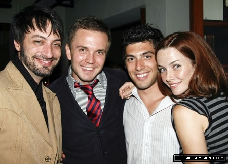 Annie Wersching with Stephen Full, Shane Scheel, and Steve Mazurek