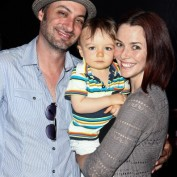 Annie Wersching with son and husband