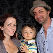 Annie Wersching and Stephen Full with son Freddie