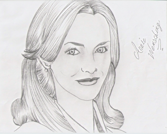 Annie Wersching pencil drawing by habb