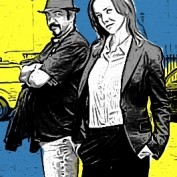 Annie and Jon Cassar comic-book style
