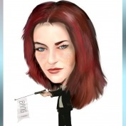 Renee Walker caricature by Gaby