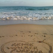 Renee Walker Forever beach message