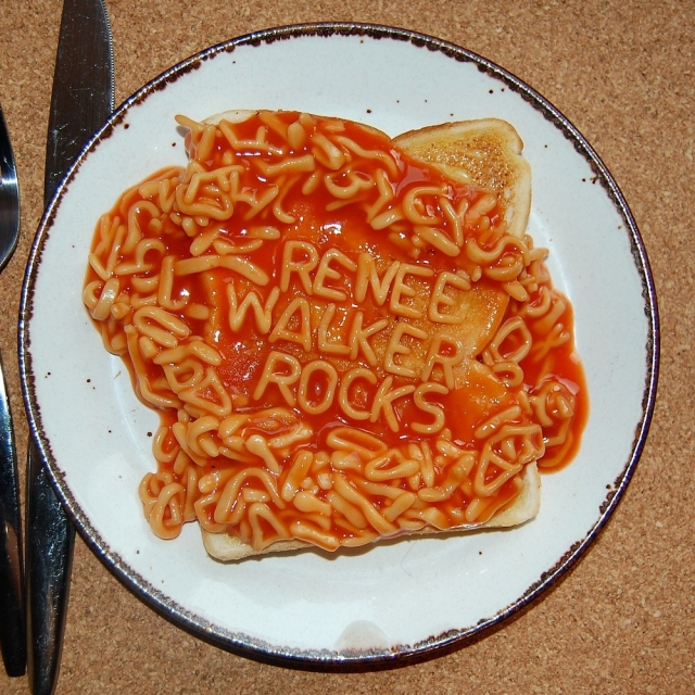 Renee Walker Rocks Alphabetti Spaghetti fan art