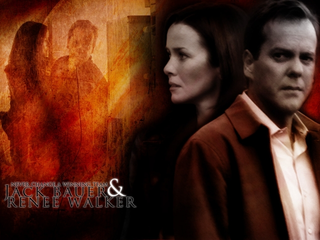 Jack Bauer and Renee Walker 'Winning Team' wallpaper