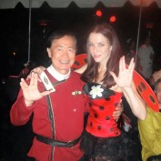 Annie Wersching and George Takei at Halloween Party 2009