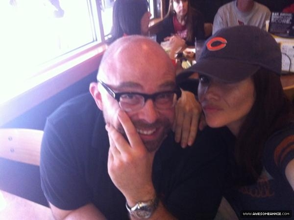 Annie Wersching with friend Ryan Quick