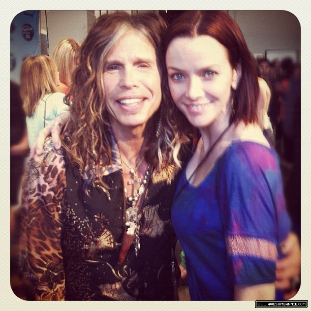 Annie Wersching with Aerosmith's Steven Tyler