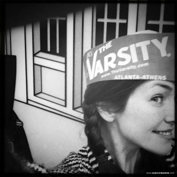 Annie Wersching visits The Varsity in Atlanta
