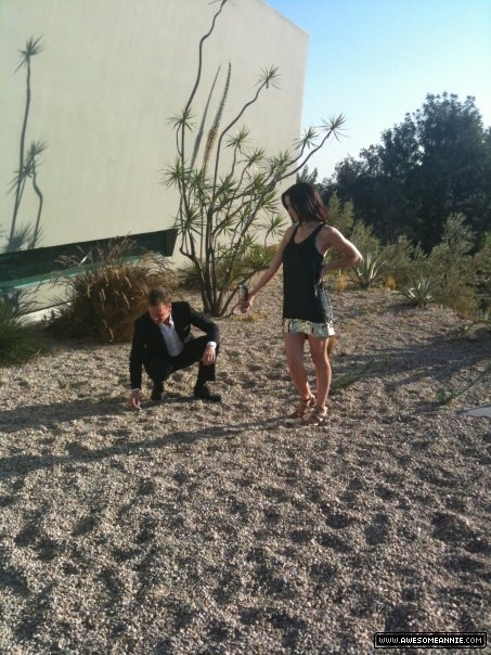 Annie Wersching and Kiefer Sutherland BTS Photo Shoot