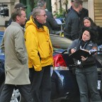 Annie Wersching with director Brad Turner and Kiefer Sutherland on 24